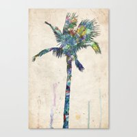 palm tree Canvas Prints featuring Palm Tree by Taylor Payne