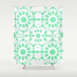 Mint Arabesque Shower Curtain