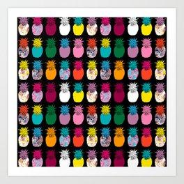 Pineapples Pattern Art Print