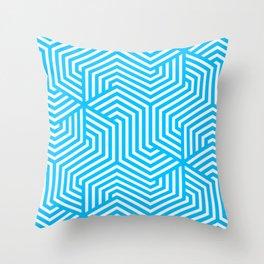 Capri - turquoise - Minimal Vector Seamless Pattern Throw Pillow