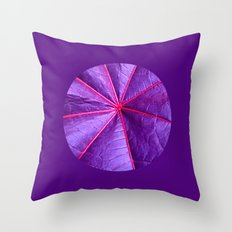 purple leaf macro XIV Throw Pillow