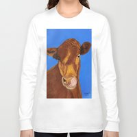 cow Long Sleeve T-shirts featuring Cow by maggs326