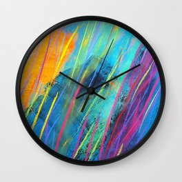 Modern Abstract Painting by bernard teklic Wall Clock