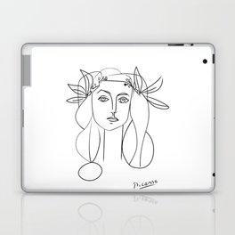 Picasso lady  Modern Sketch Picasso Art Modern Minimalist Laptop & iPad Skin