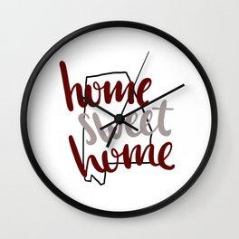 Home Sweet Home Alabama Wall Clock