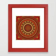 Hippie mandala 85 Framed Art Print