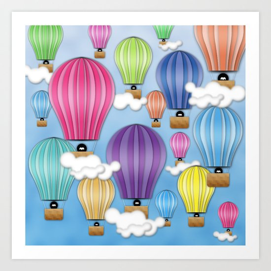 UP! UP! AND AWAAAAAAYYY!  Art Print