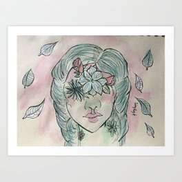 Flowered Art Print