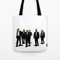 reservoir dogs Tote Bags featuring Reservoir Dawgs by David Procter