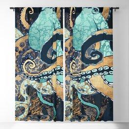 Metallic Octopus II Blackout Curtain
