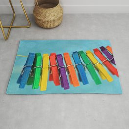 Colorful Clothespins Rug