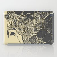 san diego iPad Cases featuring San Diego Map by Map Map Maps