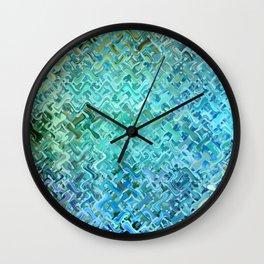 Pattern bluegreen Wall Clock