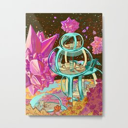Space Vacation Home Metal Print