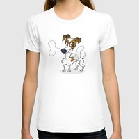 jack russell T-shirts featuring Jack Russell by drawgood