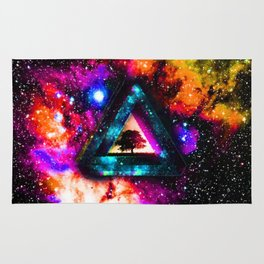 Triangle With Nebula Space Rug