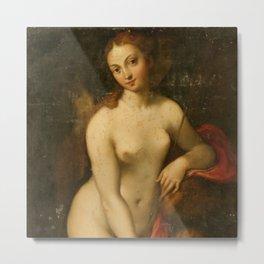 """Antonio Allegri da Correggio """"Venus and Cupid"""" Metal Print"""