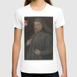 Vintage Geoffrey Chaucer Portrait Painting T-shirt