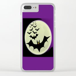 Bats and Moon Clear iPhone Case