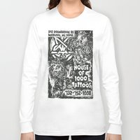 tattoos Long Sleeve T-shirts featuring House of 1000 Tattoos by Zombies by RickOrmortis Schreck