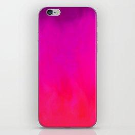Fuchsia Fire Magenta Violet Ombre iPhone Skin