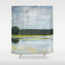 Reflective Field Shower Curtain