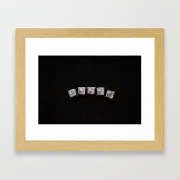 LAUGH LETTERS Framed Art Print