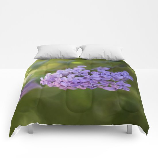 Lilac syringa in LOVE - Spring Tree Flower photography Comforters