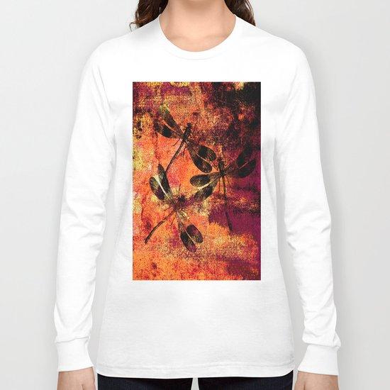 Black Dragonflies Long Sleeve T-shirt