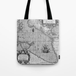 Old World Map print from 1589 Tote Bag