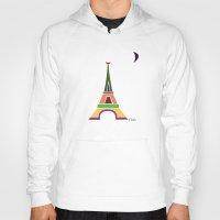 eiffel tower Hoodies featuring Eiffel Tower by Losal Jsk