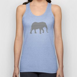 African Elephant Silhouette(s) Unisex Tank Top