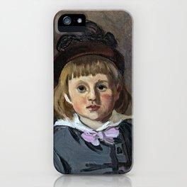 Portrait de son fils Jean en bonnet à pompon, Claude Monet iPhone Case