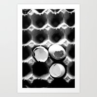 eggs Art Prints featuring  eggs by serena wilson stubson