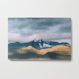 Golden Hour on the Mountains Metal Print