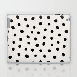 Modern Polka Dots Black on Light Gray Laptop & iPad Skin