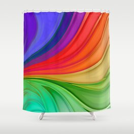 Abstract Rainbow Background Shower Curtain