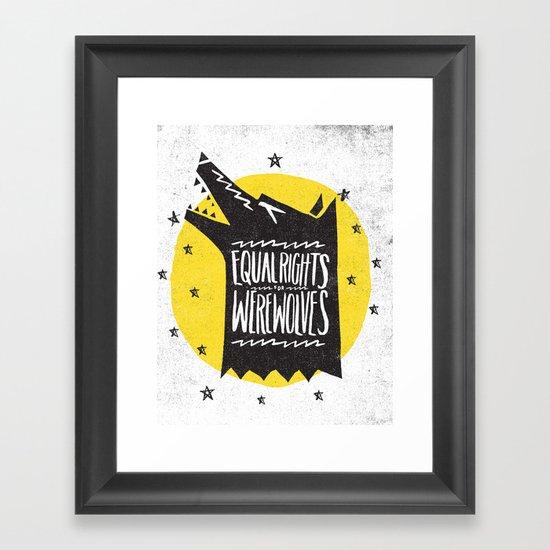 WEREWOLF RIGHTS Framed Art Print