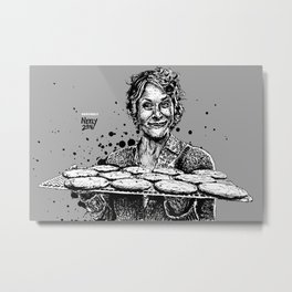 Carol's Got Cookies! From the Walking Dead. Melissa McBride in comic book form. Metal Print