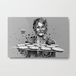 Carol's Got Cookies! From the Walking Dead. Melissa McBride in comic book form. Metal Print