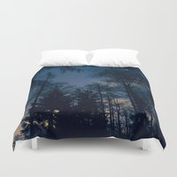 forrest Duvet Covers featuring Night Forrest by Grahamstarr