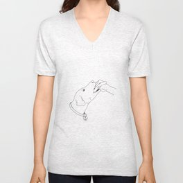 Push Your Banger Inside Lady Unisex V-Neck