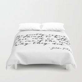 She quietly expected great things Duvet Cover