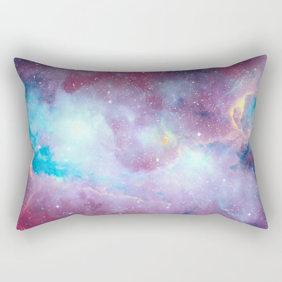 Quartz & Turquoise Galaxy Rectangular Pillow