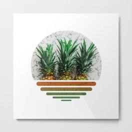 Summer pineapples Metal Print
