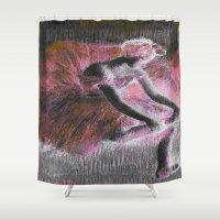 ballerina Shower Curtains featuring ballerina. by PureVintageLove