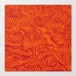 orange red flow Canvas Print