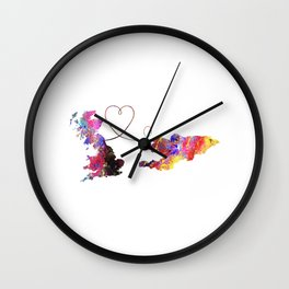 Britain to Kyrgyzstan  Quote Art Design Inspiratio Wall Clock