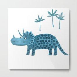 Triceratops Dinosaur Metal Print