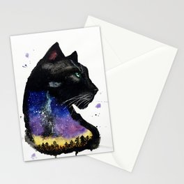 Galaxy Panther Stationery Cards